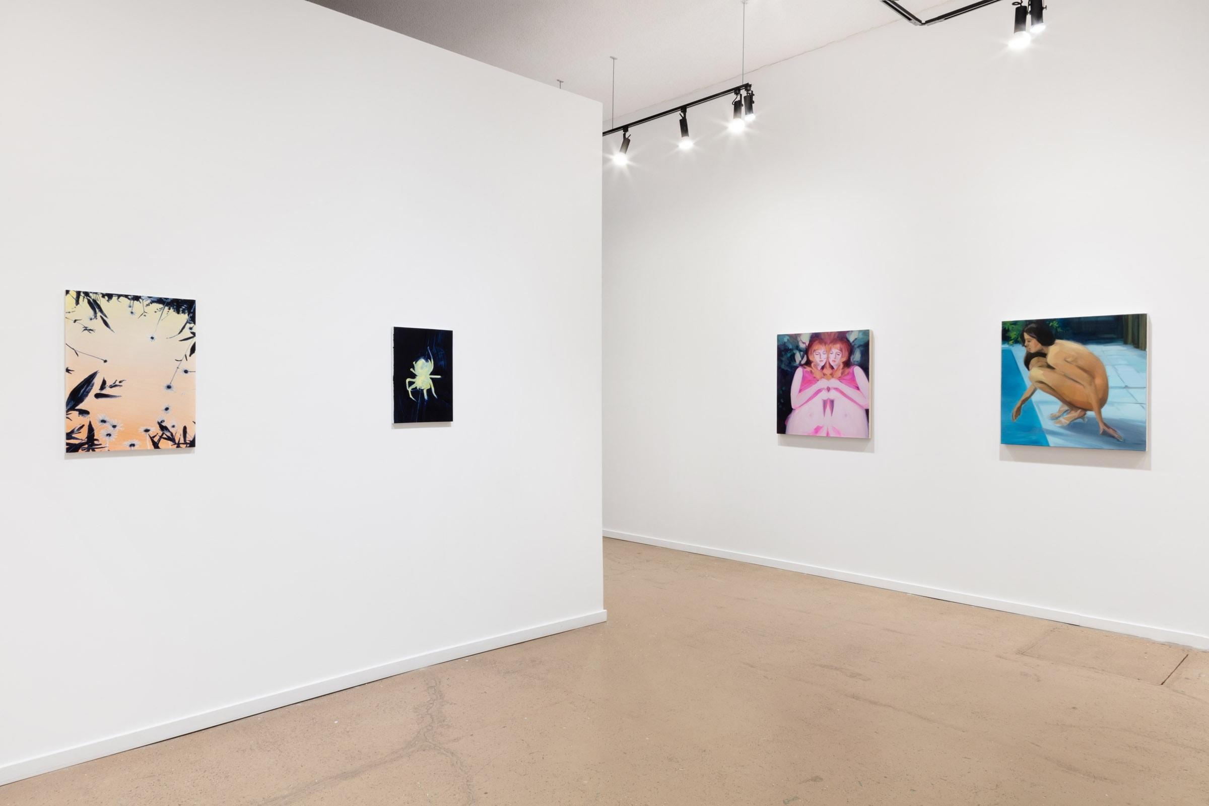 Art exhibit viewing room in Norberg Hall