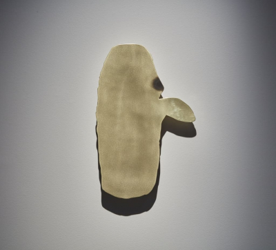 Robin Arseneault, Masks With Decay 6 / 2016 / 25 x 17 x 2 in. / brass